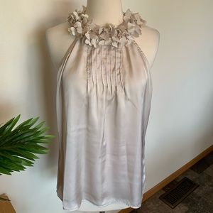 Violet & Claire sleeveless silky blouse hearts